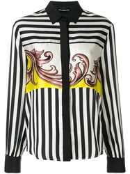 Marco Bologna Baroque And Stripe Shirt Black