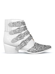 Toga Pulla Buckled Glitter Boots White