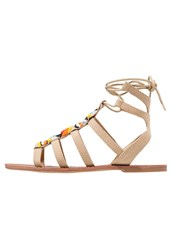 Evenandodd Sandals Cognac