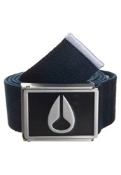 Nixon Enamel Belt Navy Dark Blue