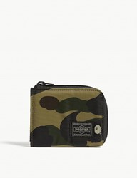 A Bathing Ape Porter 1St Camo Small Nylon Wallet Green Camo