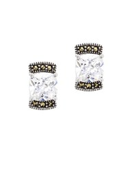 Lord And Taylor Marcasite Sterling Silver Stud Earrings