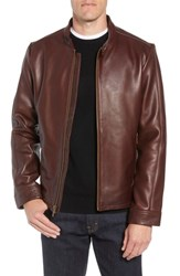 Ugg Orlando Leather Racer Coat Dark Chestnut