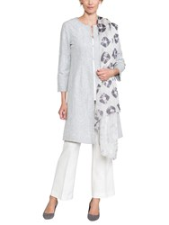 East Liyana Embroidered Coat Dove