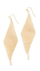 Jules Smith Designs Crystal Mesh Wave Earrings Gold Clear