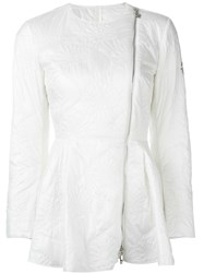 Moncler Gamme Rouge Textured Side Zip Jacket White