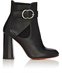 Chloe Women's Buckle Strap Ankle Boots Black