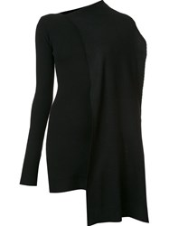 Edun Draped Wrap Dress Black