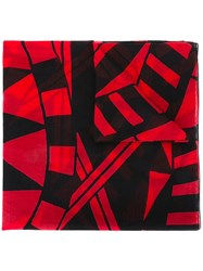 Givenchy Power Of Love Printed Scarf Red