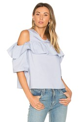 Bcbgeneration Exposed Shoulder Top Blue