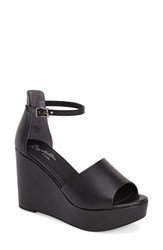 Women's Seychelles 'Upbeat' Wedge Sandal Black Leather