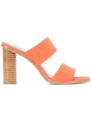Joie Banner Mules Pink Purple