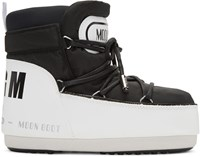 Msgm Black And White Moon Boot Edition Boots