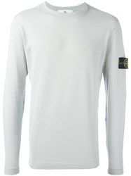 Stone Island Logo Patch Sweatshirt Grey
