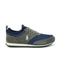 Polo Ralph Lauren Men's Ponteland Suede Sports Trainers Museum Grey Newport Navy