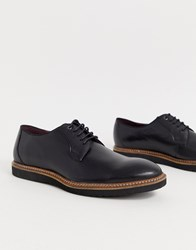 Lambretta Lace Up Leather Shoe With Chunky Sole Black