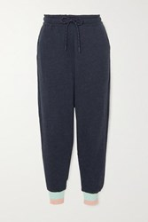 Lndr Trouble Cropped Cotton Jersey Track Pants Navy