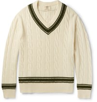 Kent And Curwen Merino Wool Cricket Sweater Camel