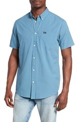 Rvca Men's 'That'll Do' Slim Fit Microdot Woven Shirt Blue Jay