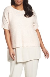 Eileen Fisher Plus Size Women's Organic Linen And Cotton Knit Top Shell