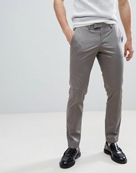 Esprit Slim Fit Smart Trouser In Cotton Sateen Grey