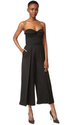 Brandon Maxwell Bustier Pleated Jumpsuit Black