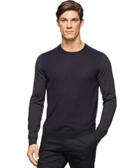Calvin Klein Colorblocked Crew Neck Sweater Lake Combo