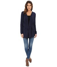 Lucky Brand Modern Drapey Cardigan Mooring Women's Sweater Black