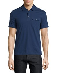 Penguin Short Sleeve Polo Shirt W Pocket Medieval Blue