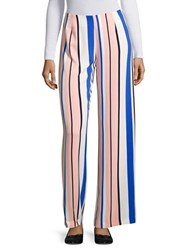 Romeo And Juliet Couture Wide Legged Striped Pants Pink Combination