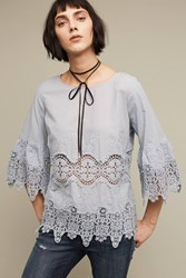 Anthropologie Elodie Tunic Blue