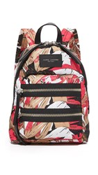 Marc Jacobs Palm Print Biker Mini Backpack Pink Multi