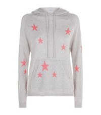 Chinti And Parker Cashmere Star Hoodie Grey