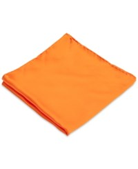 Club Room Pocket Square Silk Solid Orange
