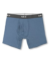 Naked Essential Stretch Cotton Boxer Briefs Pack Of 2 Metro Grey Heather Dusk.