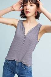 Anthropologie Henley Tank Navy