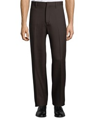 Salvatore Ferragamo Wool Worker Pants Brown