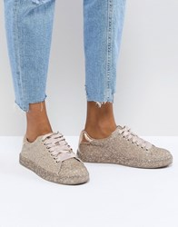 Call It Spring Arminel Glitter Trainers Pink Glitter