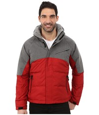 Nautica Color Block Quilted Bomber Jib Red Men's Coat