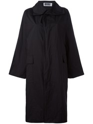 Issey Miyake Single Breasted Coat Black
