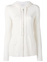 P.A.R.O.S.H. Zip Up Hoodie Nude Neutrals