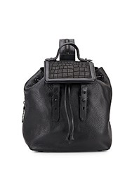 Mackage Tanner Leather And Suede Backpack Black