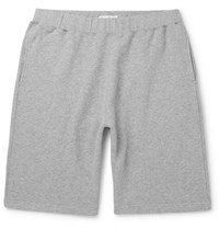 Sunspel Brushed Loopback Cotton Jersey Shorts Gray