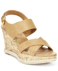 American Living Adrina Platform Wedge Sandals A Macy's Exclusive Style Tan