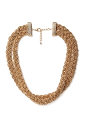 Forever 21 Braided Chain Layered Necklace