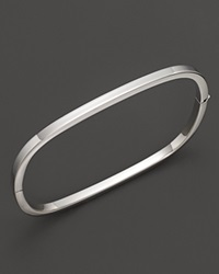 Roberto Coin 18K White Gold Square Bangle