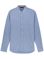 Jaeger Relaxed Fit Oxford Shirt Blue
