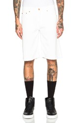 Off White Cut Off Shorts In White