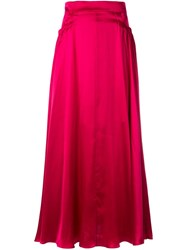 Michael Lo Sordo High Waisted Skirt Red