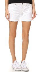 True Religion Emma Bermuda Shorts Optic White